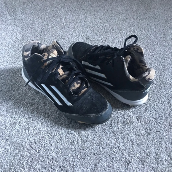 adidas Other - Youth black and white adidas baseball cleats